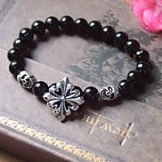 Gothic Crowe 20cm Unisex Black Acrylic Strand Bracelet(1 Pc)