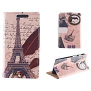 The Eiffel Tower Design Postcard Mode PU Full Body Case with Card Slot for Motorola MOTO X