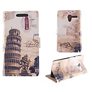 The Leaning Tower of Pisa Design PU Full Body Case with Card Slot for Motorola MOTO X