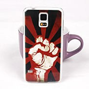 Waving Fists Pattern PC Back Case for Samsung S5/I9600