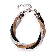 Fashion Multiple Wrap 24cm Unisex Multicolor Fabric Wrap Bracelet(1 Pc)