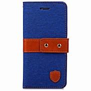 Für iphone 7 7 plus Fallabdeckungs-Kartenhalter-Mappe mit Standplatz-Flip magnetischer voller Körperkasten Normallack-hartes Textil für