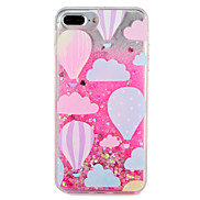 Case  for Apple iPhone 7 7 Plus Balloon Glitter Shine Pattern Flowing Liquid Hard  PC  6s Plus 6 plus 6s 6