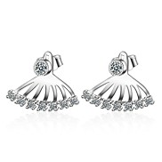 Women's Stud Earrings AAA Cubic Zirconia Unique Design Hypoallergenic Zircon Platinum Plated Taper Shape Jewelry 147Party/Evening