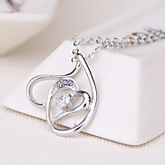 Women's Pendant Necklaces Jewelry Heart Jewelry Rhinestone Alloy Unique Design Euramerican Fashion Jewelry 147Party Other Ceremony