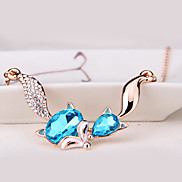 Women's Pendant Necklaces Jewelry Animal Shape Jewelry Crystal Alloy Unique Design Euramerican Fashion Jewelry 147Party Other Ceremony