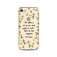 Case for iPhone 7 Plus 7 Cover Transparent Pattern Back Cover Case Word / Phrase Flower Soft TPU for iPhone 6s plus 6 Plus 6s 6 SE 5s 5c 5 4s 4