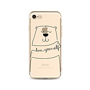Case for iPhone 7 Plus 7 Cover Transparent Pattern Back Cover Case Word / Phrase Cartoon Bears Soft TPU for iPhone 6s plus 6 Plus 6s 6 SE 5s 5c 5 4s 4