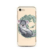 Case for iPhone 7 Plus 7 Cover Transparent Pattern Back Cover Case Cartoon Koala Soft TPU for Apple iPhone 6s plus 6 Plus 6s 6 SE 5s 5c 5 4s 4