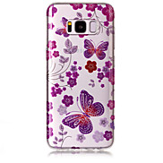 Case For Samsung Galaxy S8 Plus S8 Phone Case TPU Material IMD Process Butterfly Pattern HD Flash Powder Phone Case S7 Edge S7 S6 Edge S6