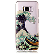 Case For Samsung Galaxy S8 Plus S8 Phone Case TPU Material IMD Process Waves Pattern HD Flash Powder Phone Case S7 Edge S7 S6 Edge S6