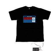 Sound und Musik aktiviert el Visualizer vu-Spektrum Tänzer T-Shirt (2 * aaa)