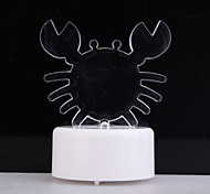 RGB Light LED Charming Crab Shaped Toy (3*AG13)