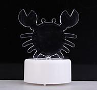 RGB-LED charmante Krabben geformt Spielzeug (3 * AG13)