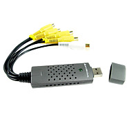 4 canal de vídeo DVR USB com áudio