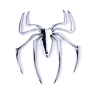 HL-6033 Car Chrome Emblem Badge Sticker - Spider