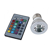 3W E26/E27 LED Spotlight MR16 1 High Power LED 150 lm RGB Remote-Controlled AC 100-240 V