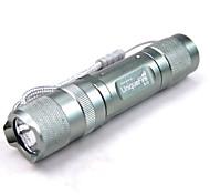 UniqueFire S10 CREE R2 LED 1 modo 200 lúmenes linterna-titanio azul (1 * 14500 no incluido) (11190165)