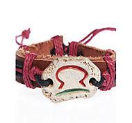 Fashion Leather Handmade Zodiac Bracelet-Libra (BSS21)