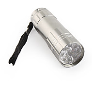 fx-709B 1-mode 9 LED Flashlight (3xaaa/3x10440, gris)