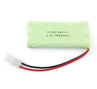 1800mAh 7.2v AA Ni-MH batería recargable (6-pack)