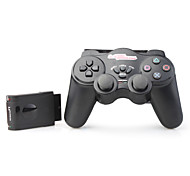 NJ206 2,4 GHz RF Wireless Game für PS2 Joypad (schwarz)