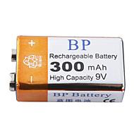 Pilas Recargables de Alta Capacidad BP 9V 300mAh