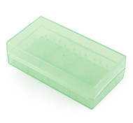 18650 Plastic Case Holder Storage Box (green)
