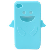Angel Protective Silica Gel Case for iPhone4 - Light Blue