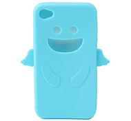 angelo di protezione in gel di silice per caso iphone4 - azzurro