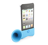 Loudspeaker Horn Stand Holder for iphone 4(blue)