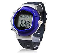 caloria contador de pulsos de freqüência cardíaca relógio monitor automático com alarme - azul