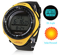 Men's Watch Sports Solar Powered Water Resistant Digital Multi-Function Cool Watch Unique Watch