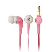 elegante, di alta qualità auricolari, cavo di 1,2 m, 3,5 mm (rosa)