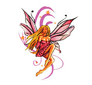 5 Pcs Angel Waterproof Temporary Tattoo(6cm*6cm)