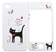 Ganzkörper-Case für iPhone 4/4s - black cat