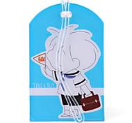 Cute Boy Travel Tag (Blue)