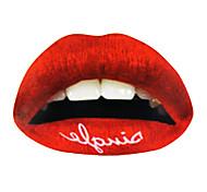 5 piezas de labios rojo temporaty etiqueta tatuaje