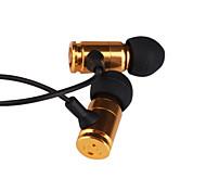 3,5 mm estéreo balas de metal de moda en la oreja los auriculares MP3/MP4