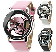 Unisex Quartz Analog Hollow Skull Style Dial PU Band Wrist Watch (Assorted Colors) Cool Watches Unique Watches Fashion Watch