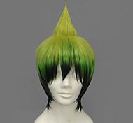 Parrucche Cosplay Blue Exorcist Amaimon Verde Corto Anime Parrucche Cosplay 30 CM Tessuno resistente a calore Uomo