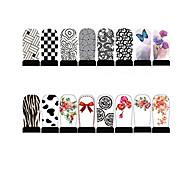 12pcs Nail Foil Art Armour Wraps Patch Stickers-White Series