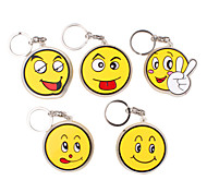 Smiling Faces Shaped Keychain with Plastic Material (Random Color)