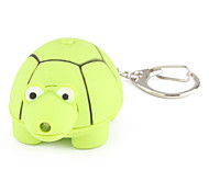 Turtle Keychain with LED Flashlight and Sound Effects