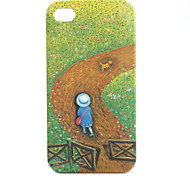 Country Road Pattern Protective Case for iPhone 4 and 4S (Green)
