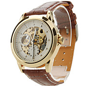 Men's Auto-Mechanical Skeleton PU Band Wrist Watch (Assorted Colors)