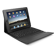 Custodia in pelle con tastiera bluetooth wireless per iPad - Nero