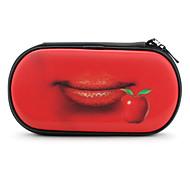 estuche protector 3d los labios de cereza para psp 1000, 2000 y 3000 (rojo)