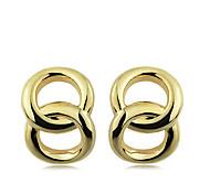 European Style Brief Individuality 8 Shape Gold Plating Loop Earrings