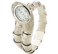 Women's Silver Snake Style Alloy Quartz Analog Bracelet Watch Cool Watches Unique Watches
